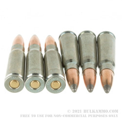 500  Rounds of 7.62x39mm Ammo by Silver Bear - 125gr SP