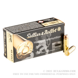 600 Rounds of .45 Long-Colt Ammo by Sellier & Bellot - 230gr JHP