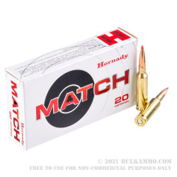 20 Rounds of 6.5 Creedmoor Ammo by Hornady - 147gr ELD Match