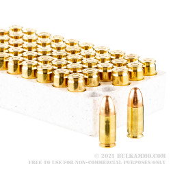 50 Rounds of 9mm Ammo by Winchester USA Target Pack - 115gr FMJ