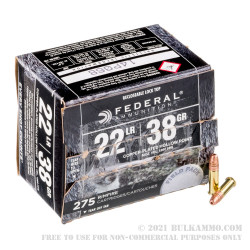 2750 Rounds of .22 LR Ammo by Federal Range & Field Pack - 38gr CPHP