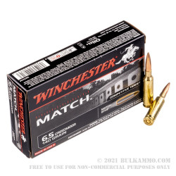 20 Rounds of 6.5 mm Creedmoor Ammo by Winchester Match - 140gr HPBT
