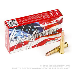 200 Rounds of 30-30 Win Ammo by Hornady American Whitetail - 150gr RN Interlock
