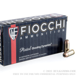 50 Rounds of .40 S&W Ammo by Fiocchi - 180gr JHP