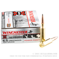 200 Rounds of 6.5 Creedmoor Ammo by Winchester Super-X - 129gr Power Point