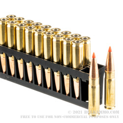 20 Rounds of .300 AAC Blackout Ammo by Hornady Custom - 110gr GMX