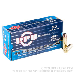 500  Rounds of .44 Mag Ammo by Prvi Partizan - 240gr JHP