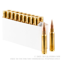 20 Rounds of 7.5x55mm Swiss Ammo by Prvi Partizan - 174gr FMJBT
