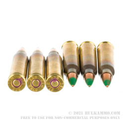 1000 Rounds of 5.56x45 Ammo by Wolf Gold - 62gr FMJ M855