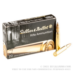 20 Rounds of 30-06 Springfield Ammo by Sellier & Bellot - 150gr SPCE