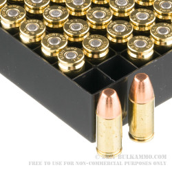 1000 Rounds of 9mm Ammo by Fiocchi - 158gr FMJ