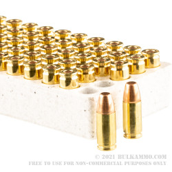 500 Rounds of 9mm Ammo by Winchester USA Ready - 115gr FMJ FN