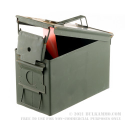 1 Fair Condition Surplus Mil-Spec 50 Cal M2A1 Green Ammo Can