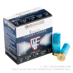 """25 Rounds of 12ga Ammo by Fiocchi White Rino - 2-3/4"""" 1 1/8 ounce #7 1/2 shot"""