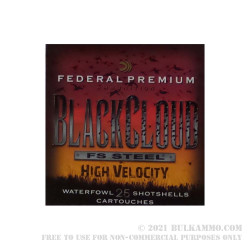 """250 Rounds of 12ga Ammo by Federal Blackcloud - 3"""" 1 1/8 ounce #3 Shot"""