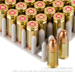 50 Rounds of 9mm Ammo by Prvi Partizan Rangemaster - 124gr FMJ
