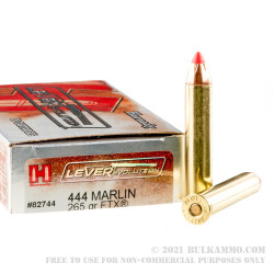 20 Rounds of 444Marlin Ammo by Hornady - 265gr FTX