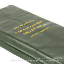 200 Rounds of 7.62x51 Ammo in Battle Pack by Prvi Partizan - 145gr FMJBT M80