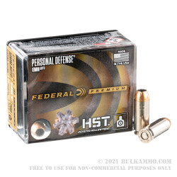 20 Rounds of 10mm Ammo by Federal Personal Defense HST - 200gr JHP