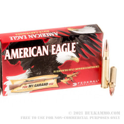 200 Rounds of 30-06 Springfield Ammo by Federal for M1 Garand - 150gr FMJ