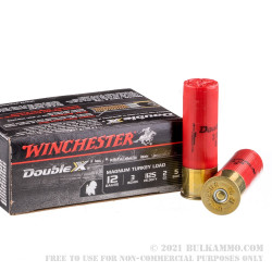 """10 Rounds of 12ga 3"""" Magnum Turkey Ammo by Winchester Supreme Double-X - 2 ounce #5 shot"""