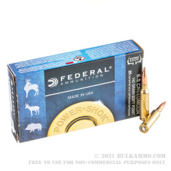 200 Rounds of 6.5 mm Creedmoor Ammo by Federal Power Shok - 140gr SP