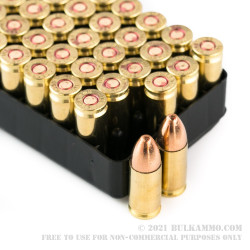 50 Rounds of 9mm Ammo by Israeli Military Industries - 115gr FMJ