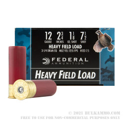 """250 Rounds of 12ga Ammo by Federal Game-Shok - 2 3/4"""" 1 1/8 ounce #7 1/2 shot"""