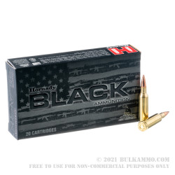 20 Rounds of .224 Valkyrie Ammo by Hornady BLACK - 75gr BTHP
