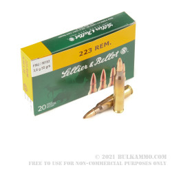1000 Rounds of M193 5.56x45 Ammo by Sellier & Bellot - 55gr FMJ