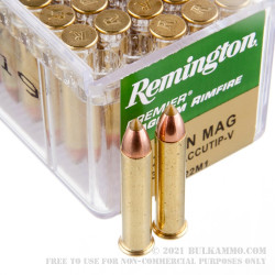 50 Rounds of .22 WMR Ammo by Remington - 33gr Accutip