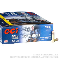 3000 Rounds of .22 LR Ammo by CCI Mini-Mag MeatEater - 36gr CPHP
