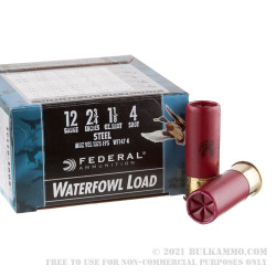 """25 Rounds of 12ga Ammo by Federal Speed-Shok Waterfowl - 2-3/4"""" 1 1/8 ounce #4 shot"""