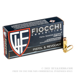 50 Rounds of 10mm Ammo by Fiocchi - 180gr JHP
