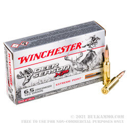 20 Rounds of 6.5 mm Creedmoor Ammo by Winchester Deer Season XP - 125gr Polymer Tipped