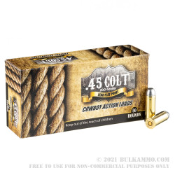 50 Rounds of .45 Long-Colt Ammo by American Cowboy - 200gr LFN