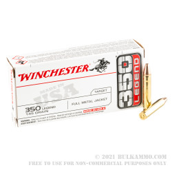 20 Rounds of .350 Legend Ammo by Winchester USA - 145gr FMJ