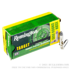50 Rounds of .38 Spl Ammo by Remington - 158gr Lead Round Nose
