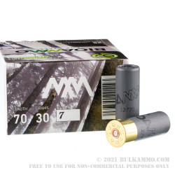 250 Rounds of 12ga Ammo by BioAmmo Lux Steel - 1-1/16 ounce #7 shot