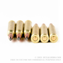 500 Rounds of .223 Ammo by Golden Bear (Brass-Plated Steel Case) - 62gr Soft Point