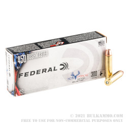 200 Rounds of .450 Bushmaster Ammo by Federal Non-Typical  - 300gr JHP