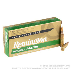 20 Rounds of .223 Ammo by Remington Premier Match - 77gr HPBT MatchKing