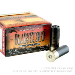 "25 Rounds of 12ga Ammo by Federal Blackcloud - 2-3/4"" 1 ounce #4 shot"