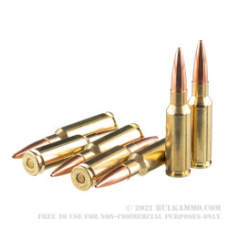 120 Rounds of 6.5 Grendel Ammo by Hornady BLACK - 123gr BTHP
