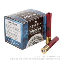 25 Rounds of .410 Ammo by Federal Game-Shok -  3in #6 Lead Shot