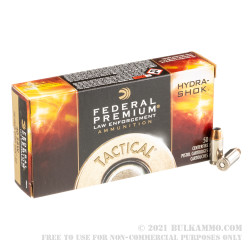 50 Rounds of .40 S&W Ammo by Federal LE Hydra Shok - 180gr JHP