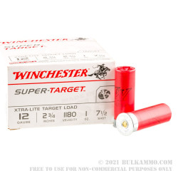"""25 Rounds of 12ga 2-3/4"""" Ammo by Winchester Super Target -  #7 1/2 shot"""