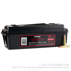 200 Rounds of .300 AAC Blackout Ammo by Ammo Inc. stelTH - 220gr TMJ