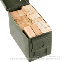 555 Rounds of 8mm Mauser Ammo in Ammo Can by Yugoslavian Military Surplus M49 - 198gr FMJ