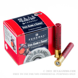 """25 Rounds of .410 Ammo by Federal Steel Game & Target - 3"""" 3/8 oz. #6 shot"""